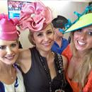 Clare, Jane and Brittney Enjoying the Emirates hospitality on Crown Oaks Day