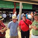 Eric, John, Tony and Lindsey catching up at Magic Millions Sales QLD