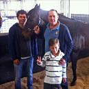 Greg Ingham with son William and nephew John at the stables with Torino