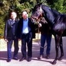 Michael Lam and Mr Ng with Lonhro/Another Time yearling
