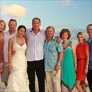 Team Hawkes with Greg and Barb on their wedding day at Vomo Island Fiji